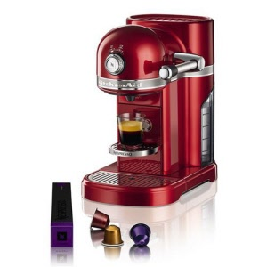 cafeti re nespresso artisan kitchenaid pomme amour 5kes0503eca achat vente appareil. Black Bedroom Furniture Sets. Home Design Ideas